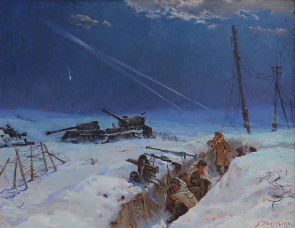 Пузирьков В.Г. Народний художник СРСР Фронтова ніч. 1985 р. Полотно, олія