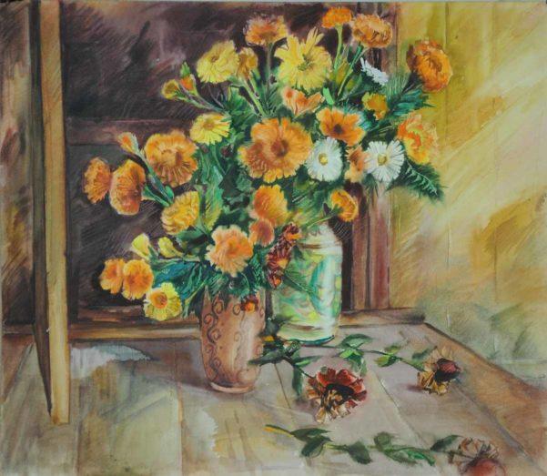 Анатолій Биков. Квіти у керамічній вазі