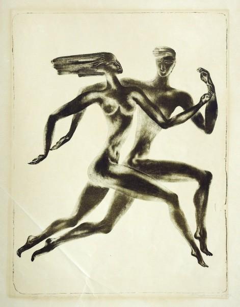 """Стасис Красаускас, """"Літо"""" (ілюстрація до твору Е. Межилайтиса """"Ера"""")"""
