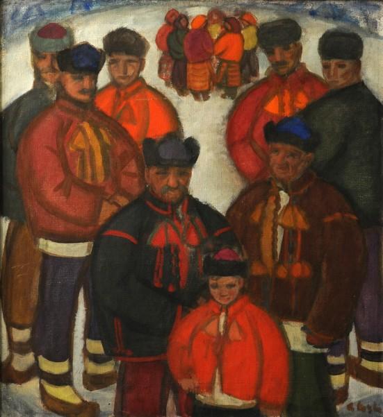 Коцка Дед с внуками