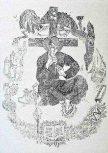 Рюрик Браїлов. Фронтиспис до роману І. Пільгука «Сковорода». 1972. Папір, офорт.