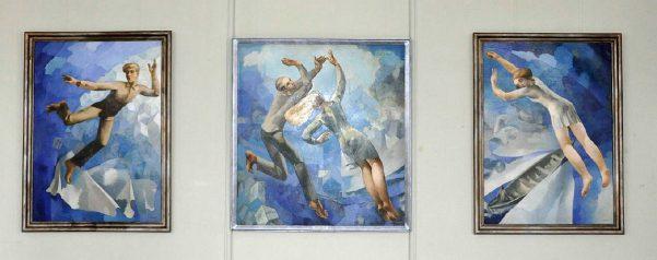 Карліс Добрайс. Семиверстними кроками (триптих). 1973. Полотно, олія.